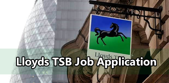 Lloyds TSB Job Application Form 2020