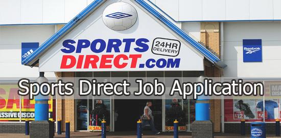 Sports Direct Application Online & PDF 2021