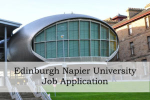 Edinburgh Napier University Job Application