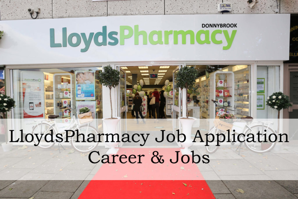 LloydsPharmacy job application