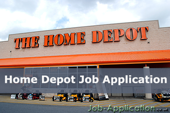 home depot job application