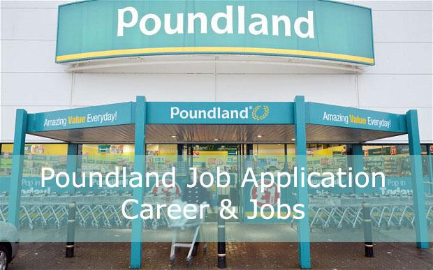 Poundland job application