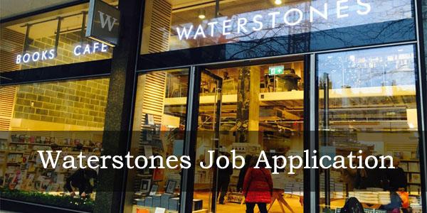 Waterstones job application