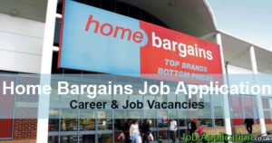 Home Bargains job application