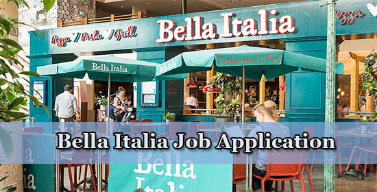 bella italia job application