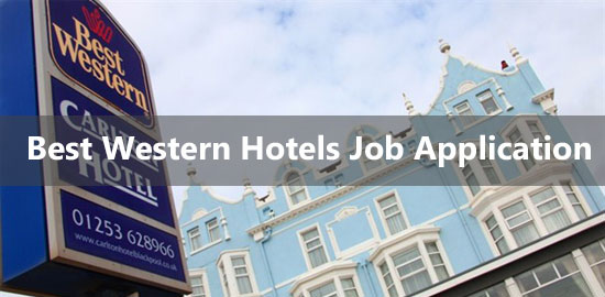 best western hotel job application