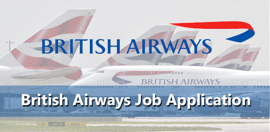 British Airways Job Application Form 2020