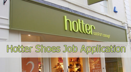 hotter shoes job application
