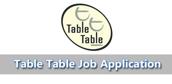 table table job application
