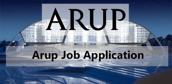 Arup Job Application Form 2020