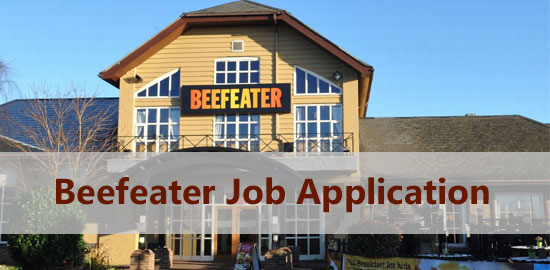 Beefeater Grill Job Application Form 2021