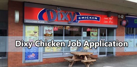 Dixy Chicken Job Application