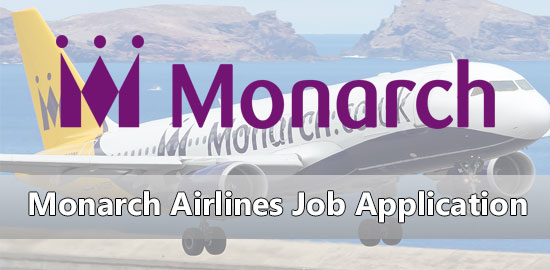 Monarch Airlines Job Application