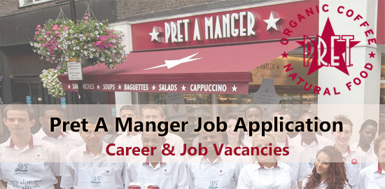 pret a manger job application