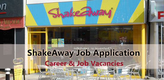 ShakeAway Job Application Form 2020