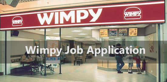 Wimpy Job Application