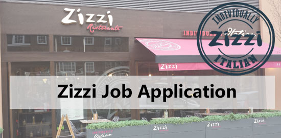 Zizzi Job Application Form 2021