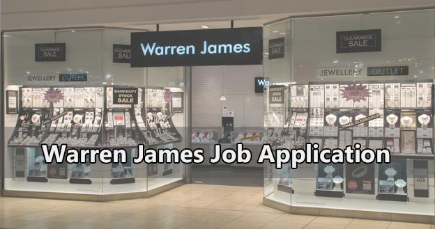 Warren James Job Application
