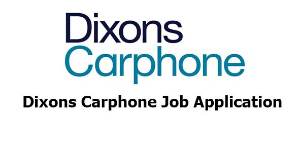 Dixons Carphone Job Application