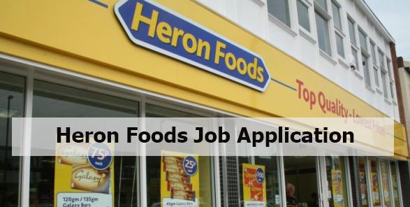 Heron Foods Job Application