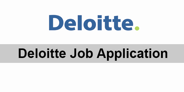 Deloitte Job Application Form 2020