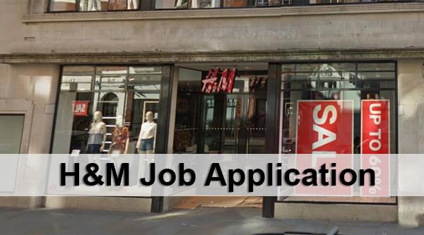 H&M Job Application