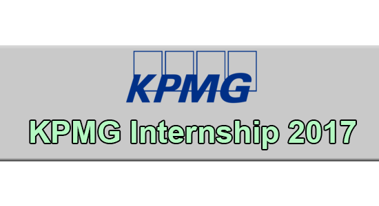 KPMG Internship Application Form 2020