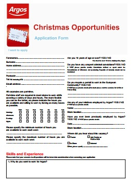 Argos Job Application PDF